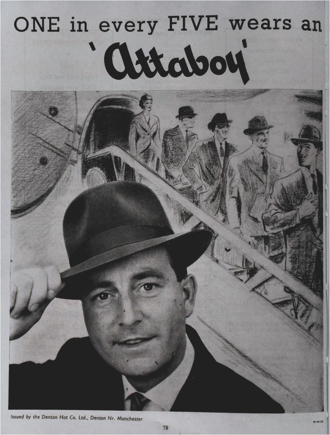 Vintage hat advertisement.